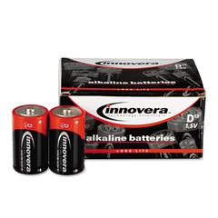 Alkaline Batteries, D, 12 Batteries/Pack