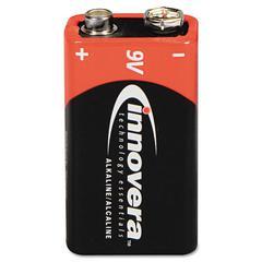 Innovera Alkaline Batteries, 9V, 4 Batteries/Pack