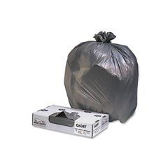 Jaguar Plastics Low-Density Commercial Can Liners, 56gal, 1.7mil, Black, 100/Carton