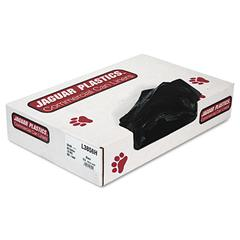 Jaguar Plastics Low-Density Can Liners, 60gal, .7mil, Black, 100/Carton