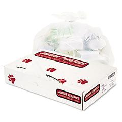 Jaguar Plastics Industrial Strength Commercial Can Liners, 8-10gal, .5mil, White, 500/Carton