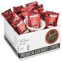Coffee Portion Packs, 1.5oz Packs, Colombian Decaf, 42/Carton