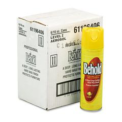 Professional Behold Furniture Polish, 16oz Aerosol, Lemon, 6/Carton