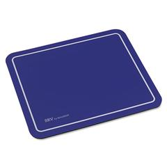 SRV Optical Mouse Pad, Nonskid Base, 9 x 7-3/4, Blue
