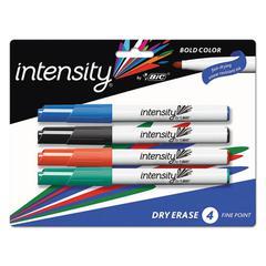 Great Erase Bold Pocket Dry Erase Markers, Low-Odor, Fine Tip, Assorted, 4/PK