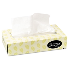 Surpass Facial Tissue, 2-Ply, Flat Box, 100/Box, 30 Boxes/Carton