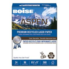 ASPEN Premium Laser Paper, 96 Bright, 24lb, 8 1/2 x 11, White, 500/RM
