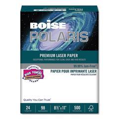 POLARIS Premium Laser Paper, 98 Bright, 24lb, 8 1/2 x 11, White, 500/RM