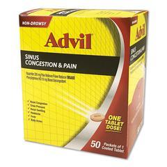 Sinus Congestion & Pain Relief, 50/Box