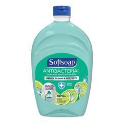 Antibacterial Liquid Hand Soap Refills, Fresh, 50 oz, Green, 6/Carton
