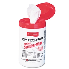 Kimtech* Surface Sanitizer Wipe, 12 x 12, White, 30/Canister
