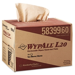WypAll* L20 Wipers, 12 1/2 x 16 4/5, Brown, 176/BRAG Box