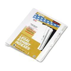 "80000 Series Legal Exhibit Index Dividers, Side Tab, ""E"", White, 25/Pack"