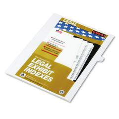 "80000 Series Legal Exhibit Index Dividers, Side Tab, ""J"", White, 25/Pack"