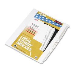 """Kleer-Fax 80000 Series Legal Exhibit Index Dividers, Side Tab, """"K"""", White, 25/Pack"""