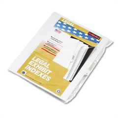 "80000 Series Legal Index Dividers, Side Tab, Printed ""O"", White, 25/Pack"