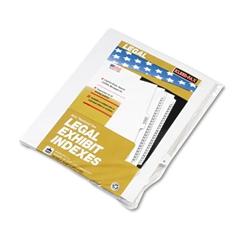 """Kleer-Fax 80000 Series Legal Index Dividers, Side Tab, Printed """"R"""", White, 25/Pack"""