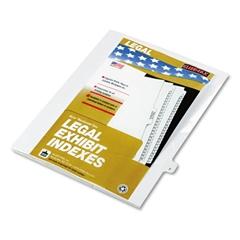 "Kleer-Fax 80000 Series Legal Index Dividers, Side Tab, Printed ""T"", White, 25/Pack"
