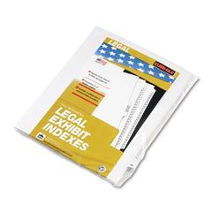 """Kleer-Fax 80000 Series Legal Index Dividers, Side Tab, Printed """"W"""", White, 25/Pack"""