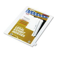"80000 Series Legal Index Dividers, Side Tab, Printed ""Z"", White, 25/Pack"