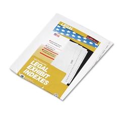 "Kleer-Fax 80000 Series Side Tab Legal Index Divider Set, Printed ""Exhibit A""-""Exhibit Z"""