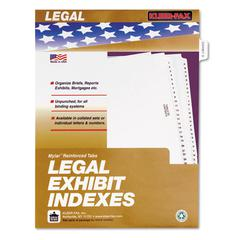 "Kleer-Fax 80000 Series Legal Index Dividers, Side Tab, Printed ""Exhibit B"", 25/Pack"
