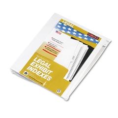 """Kleer-Fax 80000 Series Legal Index Dividers, Side Tab, Printed """"1"""", 25/Pack"""