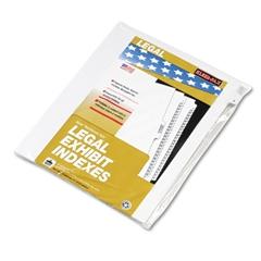 """80000 Series Legal Index Dividers, Side Tab, Printed """"2"""", 25/Pack"""