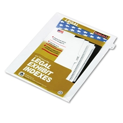 "Kleer-Fax 80000 Series Legal Index Dividers, Side Tab, Printed ""3"", 25/Pack"