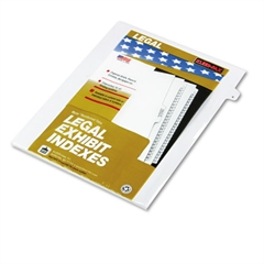 "80000 Series Legal Index Dividers, Side Tab, Printed ""4"", 25/Pack"