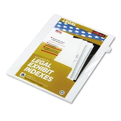 "Kleer-Fax 80000 Series Legal Index Dividers, Side Tab, Printed ""5"", 25/Pack"