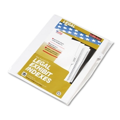"80000 Series Legal Index Dividers, Side Tab, Printed ""6"", 25/Pack"
