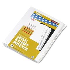 """80000 Series Legal Index Dividers, Side Tab, Printed """"7"""", 25/Pack"""