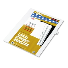 "Kleer-Fax 80000 Series Legal Index Dividers, Side Tab, Printed ""9"", 25/Pack"