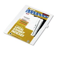"""80000 Series Legal Index Dividers, Side Tab, Printed """"10"""", 25/Pack"""
