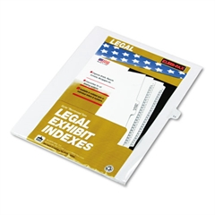 "80000 Series Legal Index Dividers, Side Tab, Printed ""11"", 25/Pack"
