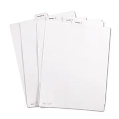 """Kleer-Fax 80000 Series Legal Index Dividers, Bottom Tab, Printed """"Exhibit C"""", 25/Pack"""