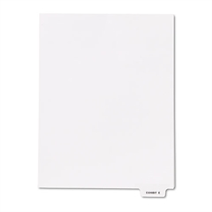 "Kleer-Fax 80000 Series Legal Index Dividers, Bottom Tab, Printed ""Exhibit E"", 25/Pack"