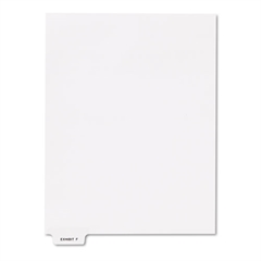 "Kleer-Fax 80000 Series Legal Index Dividers, Bottom Tab, Printed ""Exhibit F"", 25/Pack"