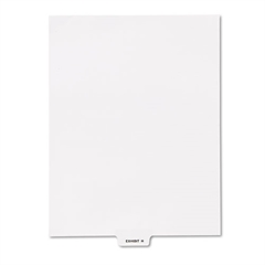 "Kleer-Fax 80000 Series Legal Index Dividers, Bottom Tab, Printed ""Exhibit H"", 25/Pack"