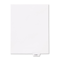"80000 Series Legal Index Dividers, Bottom Tab, Printed ""Exhibit I"", 25/Pack"