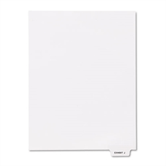 "Kleer-Fax 80000 Series Legal Index Dividers, Bottom Tab, Printed ""Exhibit J"", 25/Pack"