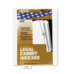 "80000 Series Legal Index Dividers, Bottom Tab, Printed ""Exhibit L"", 25/Pack"