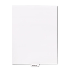 "Kleer-Fax 80000 Series Legal Index Dividers, Bottom Tab, Printed ""Exhibit M"", 25/Pack"