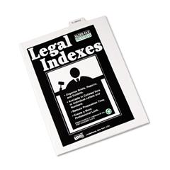 """Kleer-Fax 80000 Series Legal Index Dividers, Bottom Tab, Printed """"Exhibit Q"""", 25/Pack"""