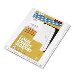 "80000 Series Bottom Tab Legal Index Dividers, Label ""Exhibit A"" - ""Exhibit Z"""