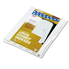 "Kleer-Fax 80000 Series Bottom Tab Legal Index Dividers, ""Exhibit 1"" - ""Exhibit 25"""