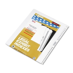 "Kleer-Fax 80000 Series Side Tab Legal Index Divider Set, Printed ""51""-""75"""
