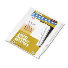 """Kleer-Fax 80000 Series Legal Exhibit Index Dividers, Side Tab, Printed """"16"""", 25/Pack"""