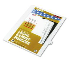 "Kleer-Fax 80000 Series Legal Index Dividers, Side Tab, Printed ""18"", 25/Pack"